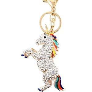 New adorable unicorn keychain, sparkly.